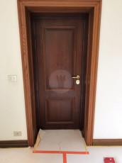 Fort Security Doors Replica Front Door With Okume Wood Finish