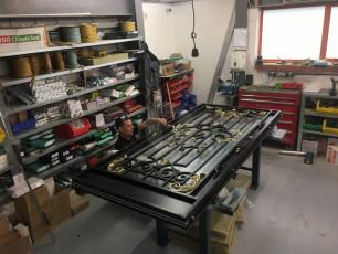 Fort Security Doors Replica Stainless Steel Front Door In Assembly Area