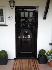 Fort Security Doors Single 100% Gloss Front Door With Steel Finish
