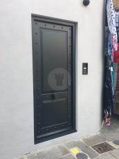 Fort Security Doors Single Door With Fingerprint Scanner And Rivets