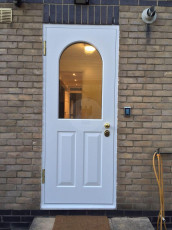 Fort Security Doors Single Entrance Door With Curved Glass