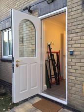Fort Security Doors Single Front Door With Curved Glass (open) 2