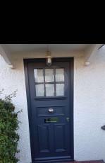 Fort Security Doors Single Front Door With Stainless Steel Embelishment