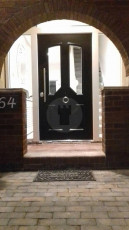 Fort Security Doors Single Front Door With Transom And Glazed Side Lights (outside)