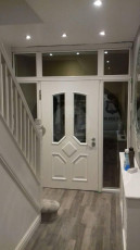 Fort Security Doors Single Front Door With Transom And Glazed Side Lights