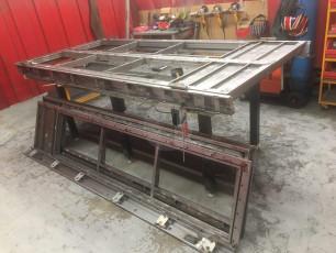Fort Security Doors Stainless Steel Structure Of Double French Door In Welding Area