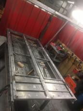 Fort Security Doors Stainless Steel Structure Of French Double Door In Welding Area