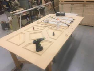 Fort Security Doors Wooden Panel Of Replica Door In Sanding Area 2