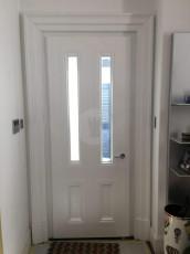 Fort Security Side Door With 2 Vertical Glass Panes