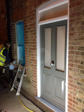 Fort Security Single Front Door With 2 Glazed Glass Panels