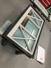 Fort Security Doors Casement Window With Cross Pattern In Assembly Area