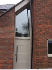 Fort Security Doors Contemporary Front Door With Tailored Transom