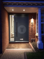 Fort Security Doors Contemporary Front Entrance With Single Side Light