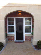 Fort Security Doors Front Entrance With 2 Fixed Sash Windows 2