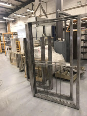 Fort Security Doors Stainless Steel Structure Of Sash Window Ready For Powder Coating