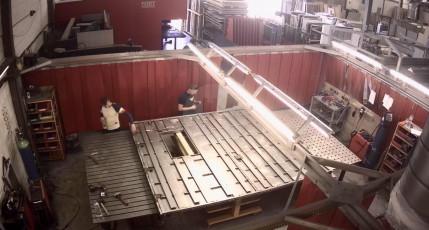 Fort Security Doors Structure Of Blastproof Door In Welding Area