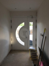 Fort Security Contemporary Door With Curved Glass (inside)