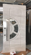 Fort Security Contemporary Front Door With Half Moon Glass