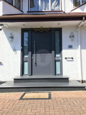 Fort Security Contemporary Front Entrance With 4 Glazed Side Panels