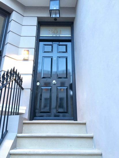 Fort Security Single Front Door With 100% Gloss And Transom