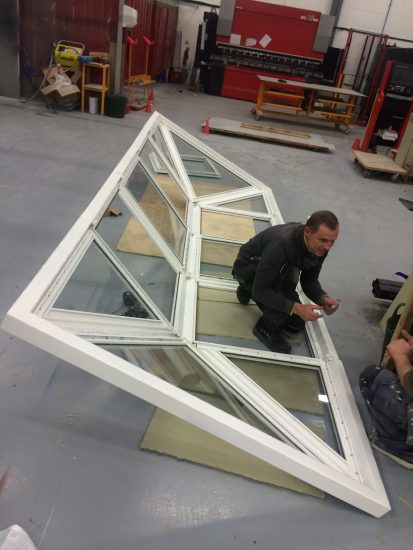 Fort Security Doors Bulletproof Skylight In Assembly