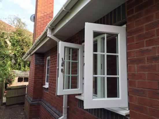 Fort Security Doors Double Casement Window With 2 Active Openings (open)